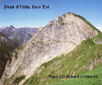 Dent d'Orlu, Face Est