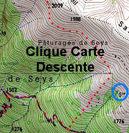 Dent d'Orlu, carte descente