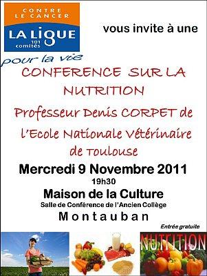 affiche conférence aliment cancer Montauban