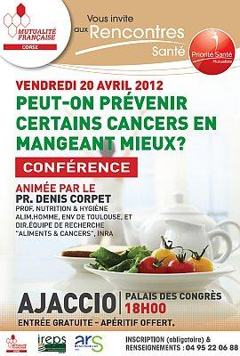 affiche conférence nutrition cancer Ajaccio