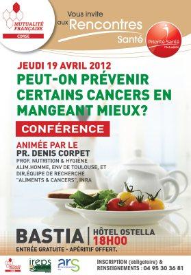 Bastia Corse affiche conférence nutrition cancer
